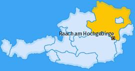 Karte von Raach am Hochgebirge