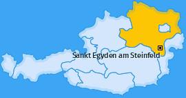 Karte von Sankt Egyden am Steinfeld