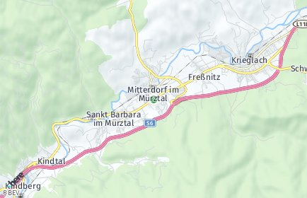 Stadtplan Sankt Barbara im Mürztal