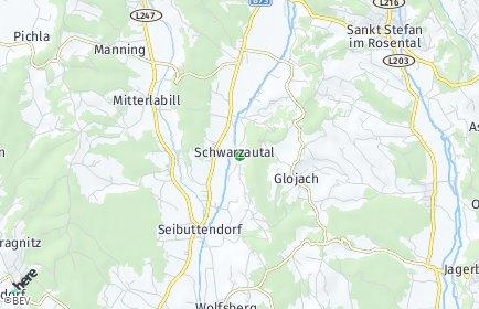 Stadtplan Schwarzautal