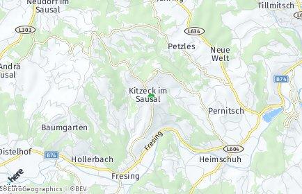 Stadtplan Kitzeck im Sausal