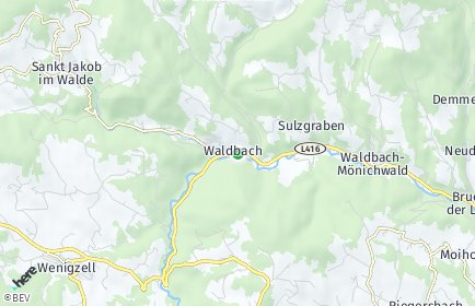 Stadtplan Waldbach-Mönichwald