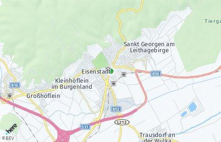 Stadtplan Eisenstadt-Umgebung