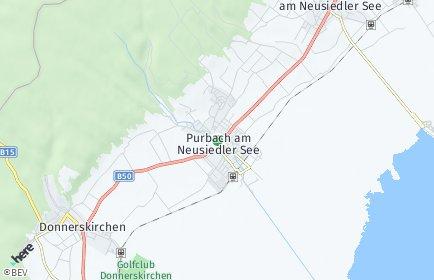 Stadtplan Purbach am Neusiedler See