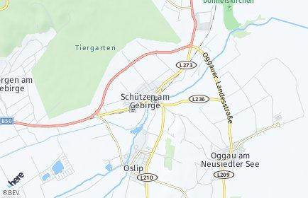 Stadtplan Schützen am Gebirge
