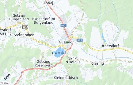 Stadtplan Güssing