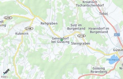 Stadtplan Gerersdorf-Sulz
