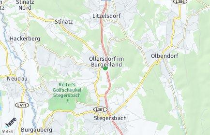 Stadtplan Ollersdorf im Burgenland