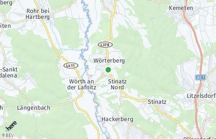 Stadtplan Wörterberg