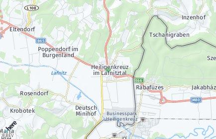 Stadtplan Heiligenkreuz im Lafnitztal OT Poppendorf im Burgenland
