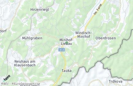 Stadtplan Minihof-Liebau