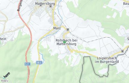 Stadtplan Rohrbach bei Mattersburg