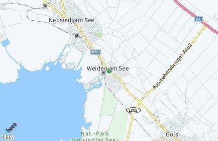 Stadtplan Weiden am See