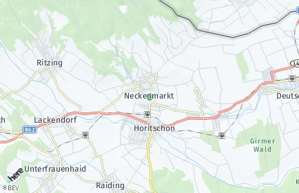 Stadtplan Neckenmarkt