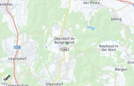 Stadtplan Oberdorf im Burgenland