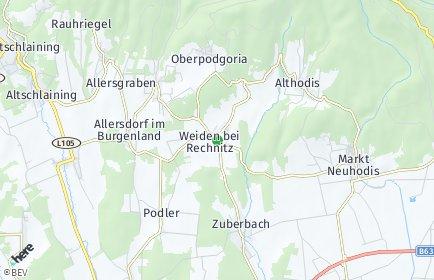 Stadtplan Weiden bei Rechnitz