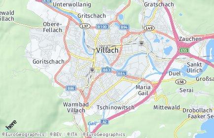 Stadtplan Villach OT Oberfederaun