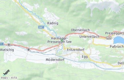 Stadtplan Hermagor