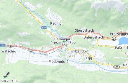 Stadtplan Hermagor-Pressegger See