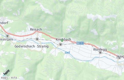 Stadtplan Kirchbach (Kärnten) OT Reisach