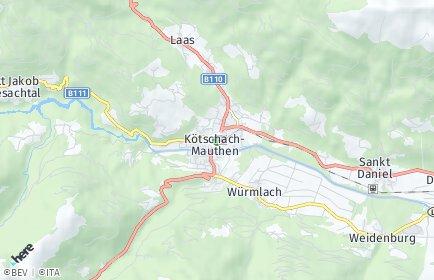 Stadtplan Kötschach-Mauthen