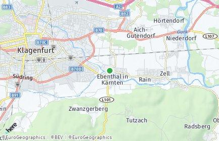 Stadtplan Ebenthal in Kärnten OT Radsberg
