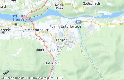 Stadtplan Ferlach