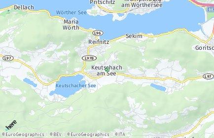 Stadtplan Keutschach am See