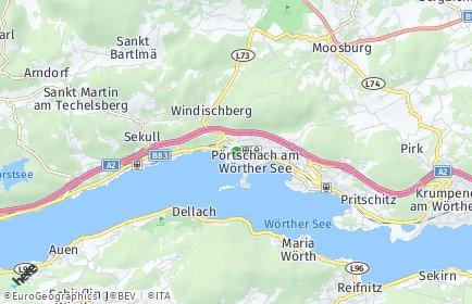 Stadtplan Pörtschach am Wörther See