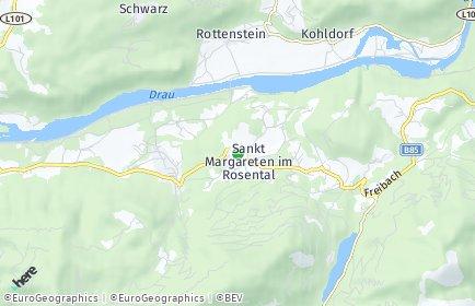 Stadtplan Sankt Margareten im Rosental