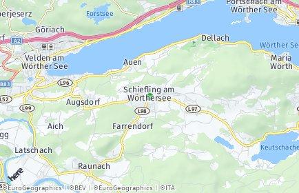 Stadtplan Schiefling am Wörthersee OT Techelweg