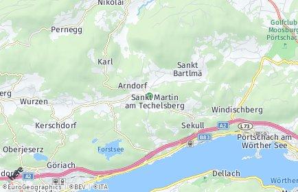 Stadtplan Techelsberg am Wörther See