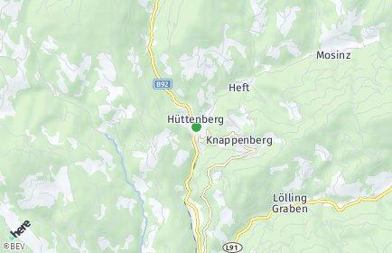 Stadtplan Hüttenberg OT Unterwald