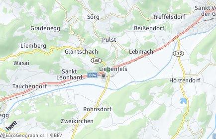 Stadtplan Liebenfels OT Woitsch
