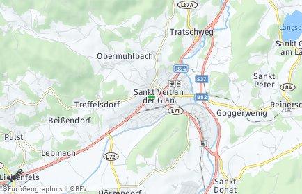 Stadtplan Sankt Veit an der Glan OT Muraunberg
