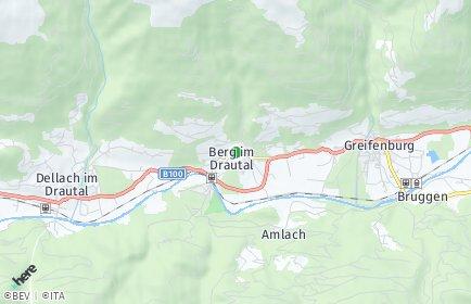 Stadtplan Berg im Drautal