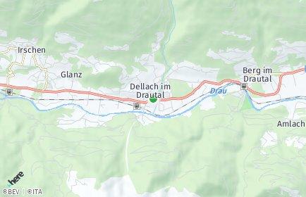 Stadtplan Dellach im Drautal