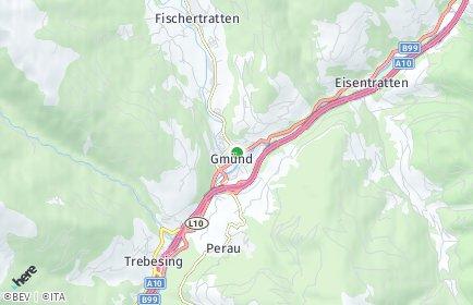 Stadtplan Gmünd in Kärnten