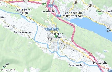 Stadtplan Spittal an der Drau OT Rothenthurn