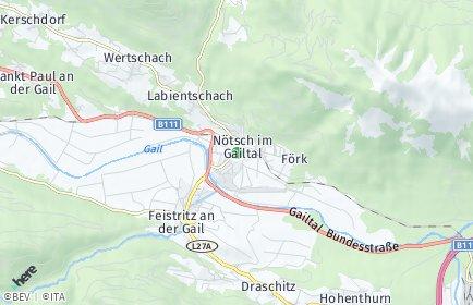 Stadtplan Nötsch im Gailtal OT Labientschach