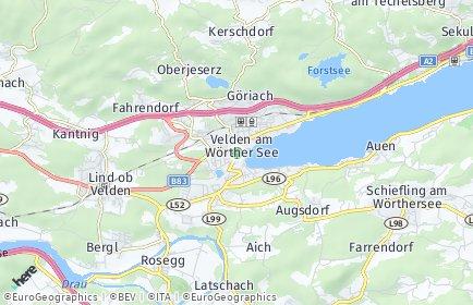 Stadtplan Velden am Wörther See OT Kantnig