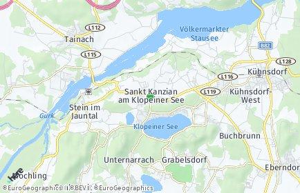 Stadtplan Sankt Kanzian am Klopeiner See