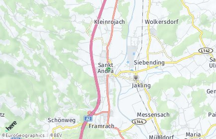 Stadtplan Sankt Andrä OT Burgstall - Pölling