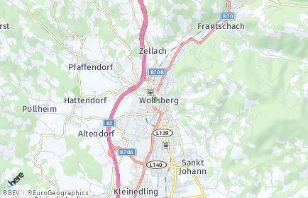 Stadtplan Wolfsberg (Kärnten) OT Michaelsdorf