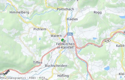 Stadtplan Feldkirchen in Kärnten OT Glanhofen