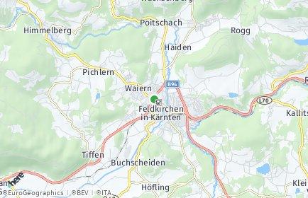 Stadtplan Feldkirchen in Kärnten OT Poitschach-Baracke