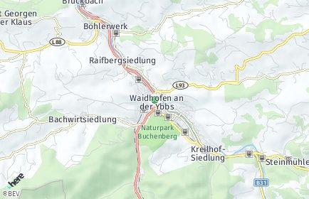Stadtplan Waidhofen an der Ybbs OT Kronhobl