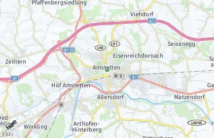 Stadtplan Amstetten OT Edla