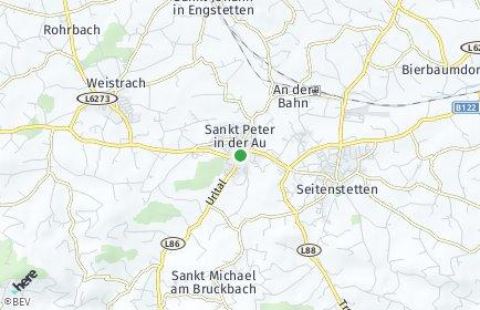 Stadtplan Sankt Peter in der Au