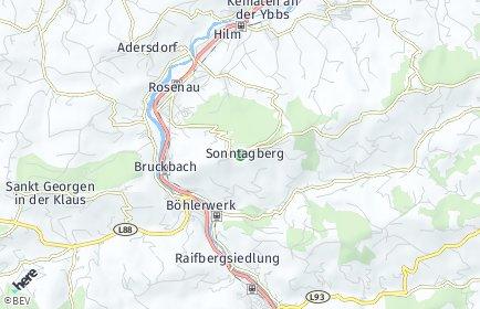 Stadtplan Sonntagberg